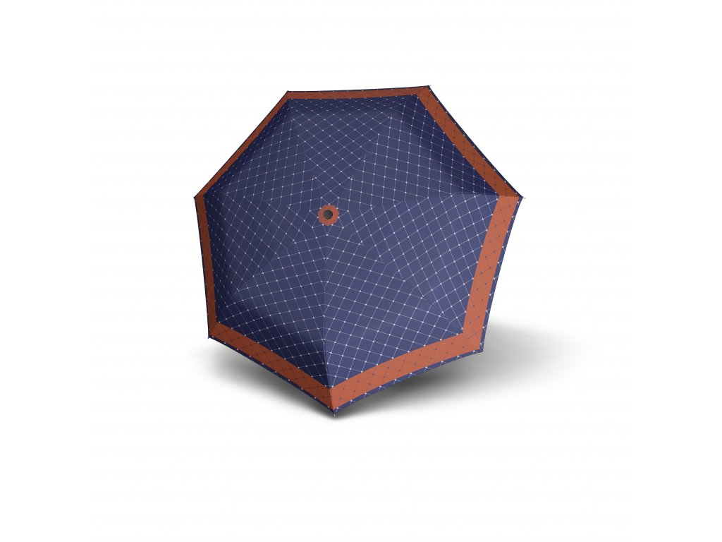 Doppler dámský skládací deštník Carbonsteel Mini XS RETE modrý