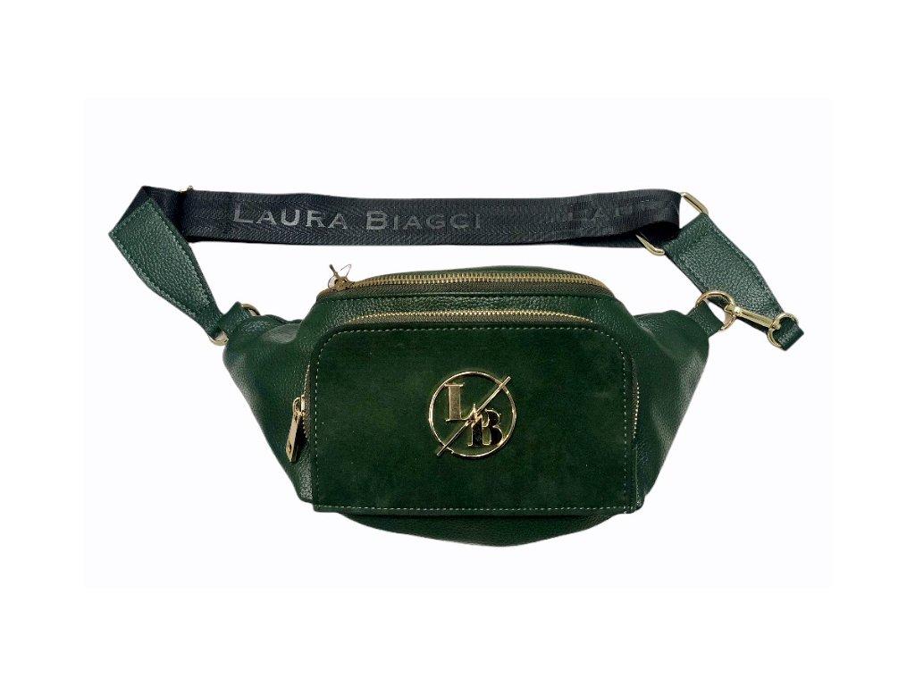 Laura Biaggi trendy ledvinka lahvově zelená