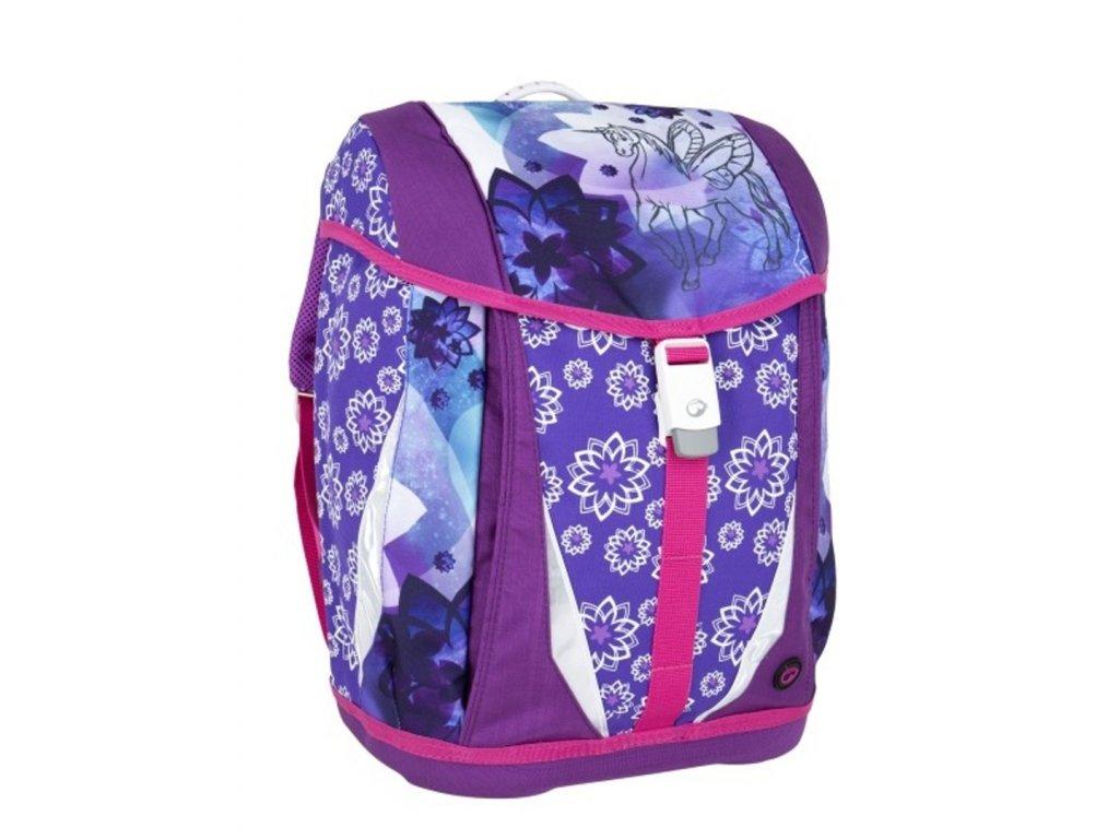 Bagmaster dívčí školní batoh/aktovka- jednorožec