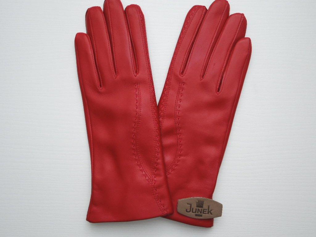 Dámské kožené rukavice - červené