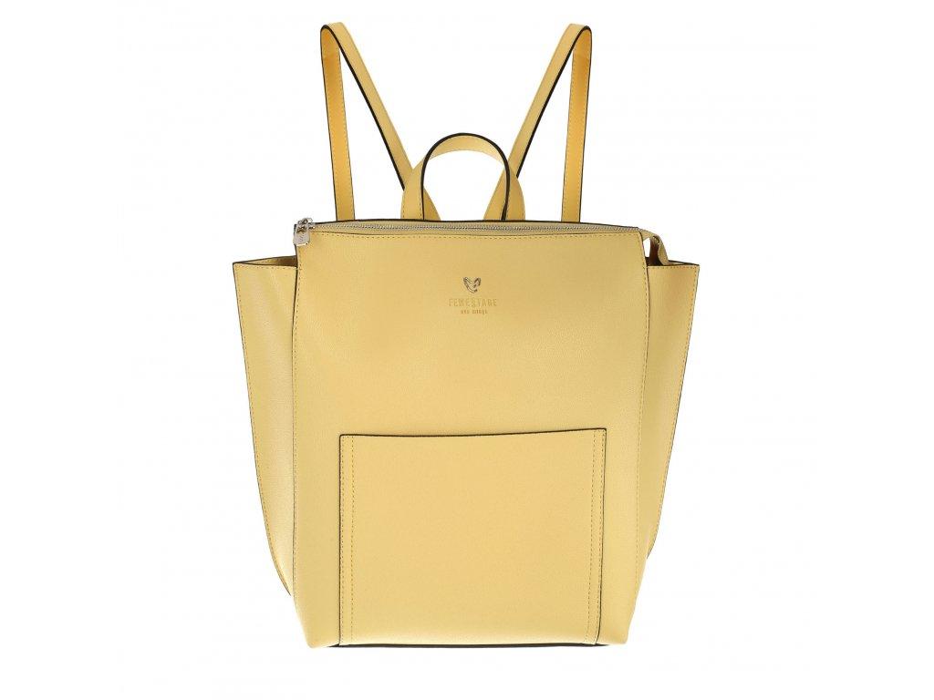 FEMESTAGE dámský elegantní batoh žlutý