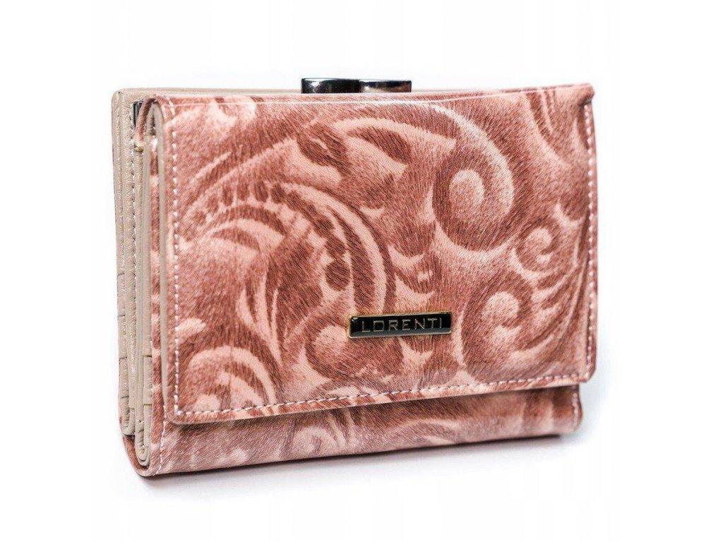 LORENTI dámská kožená peněženka lososová