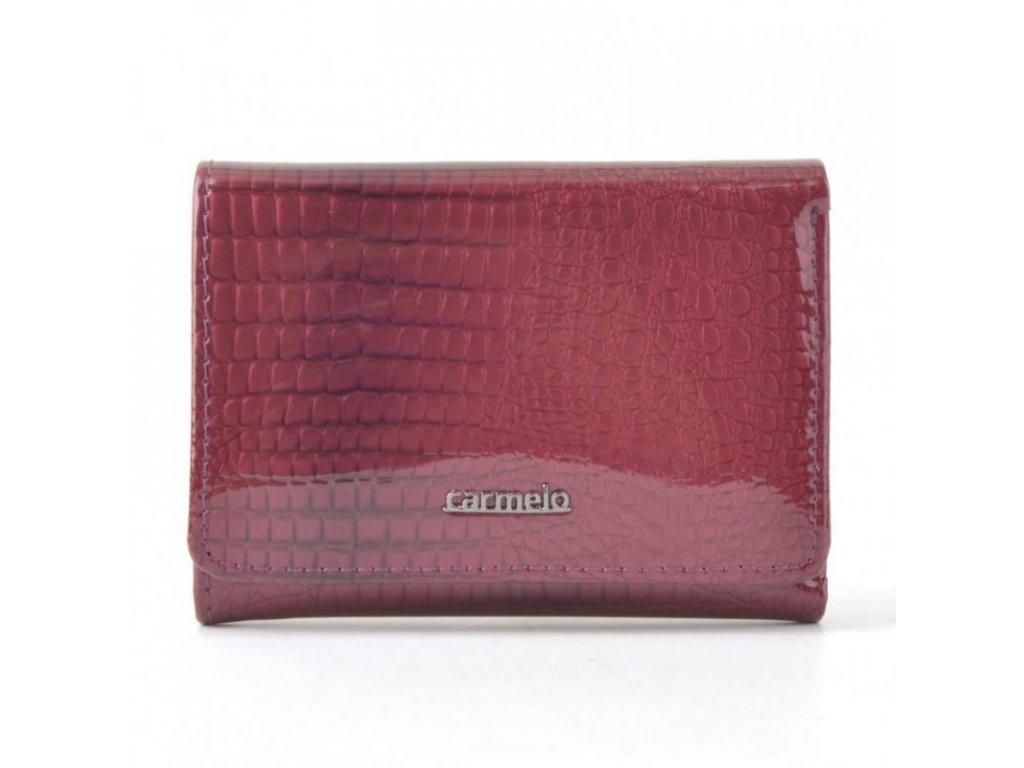 Carmelo dámská kožená peněženka vínová