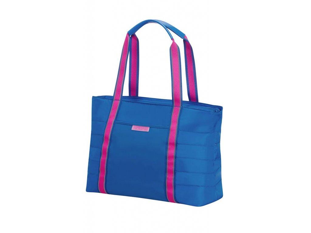 """AMERICAN TOURISTER sportovní taška  na notebook 14,1 """" modro růžová"""