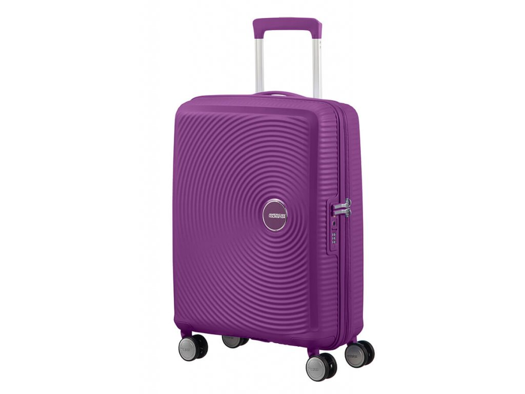 Kabinový kufr American Tourister SOUNDBOX SPIN.55/20 - fialový