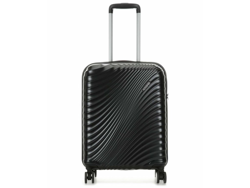 american tourister jetglam kufr se 4 kolecky cerna metaliza 55 cm 122816 2368 31