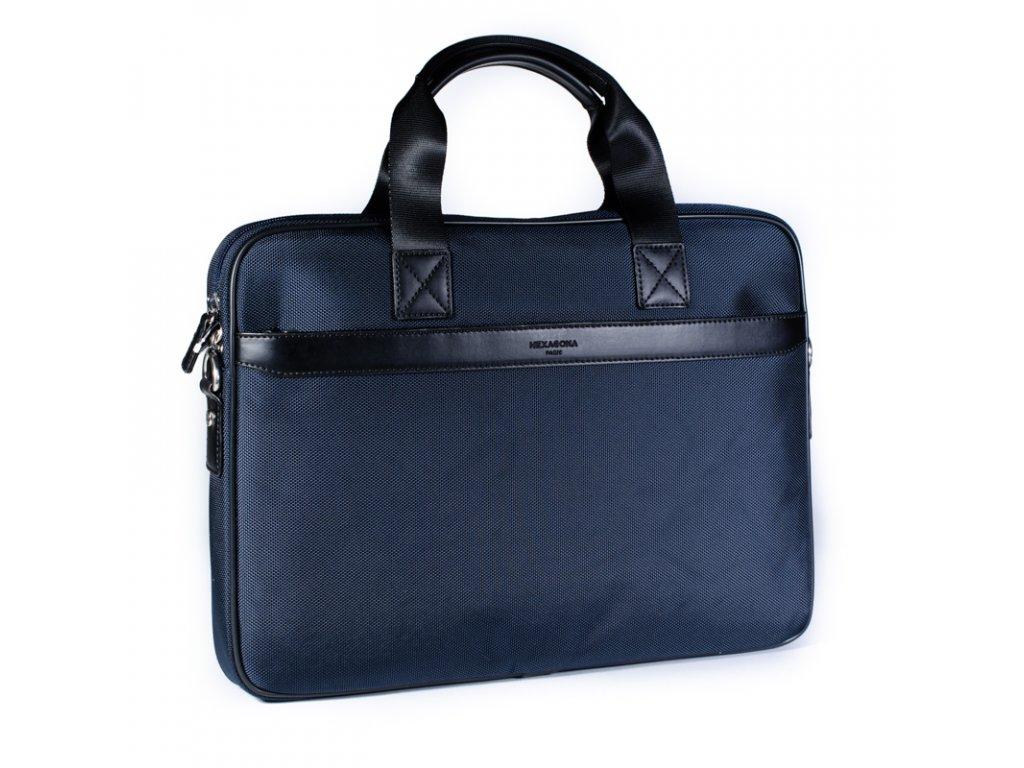 Elegantní pánská taška na notebook Hexagona modrá