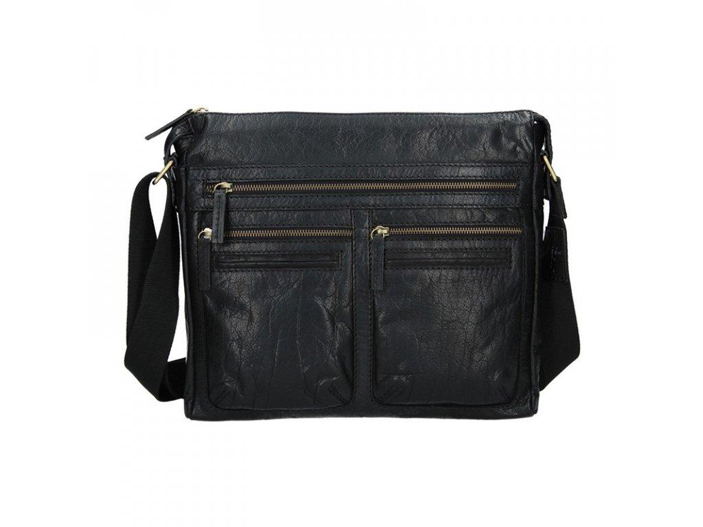 Pánská kožená taška Lagen černá