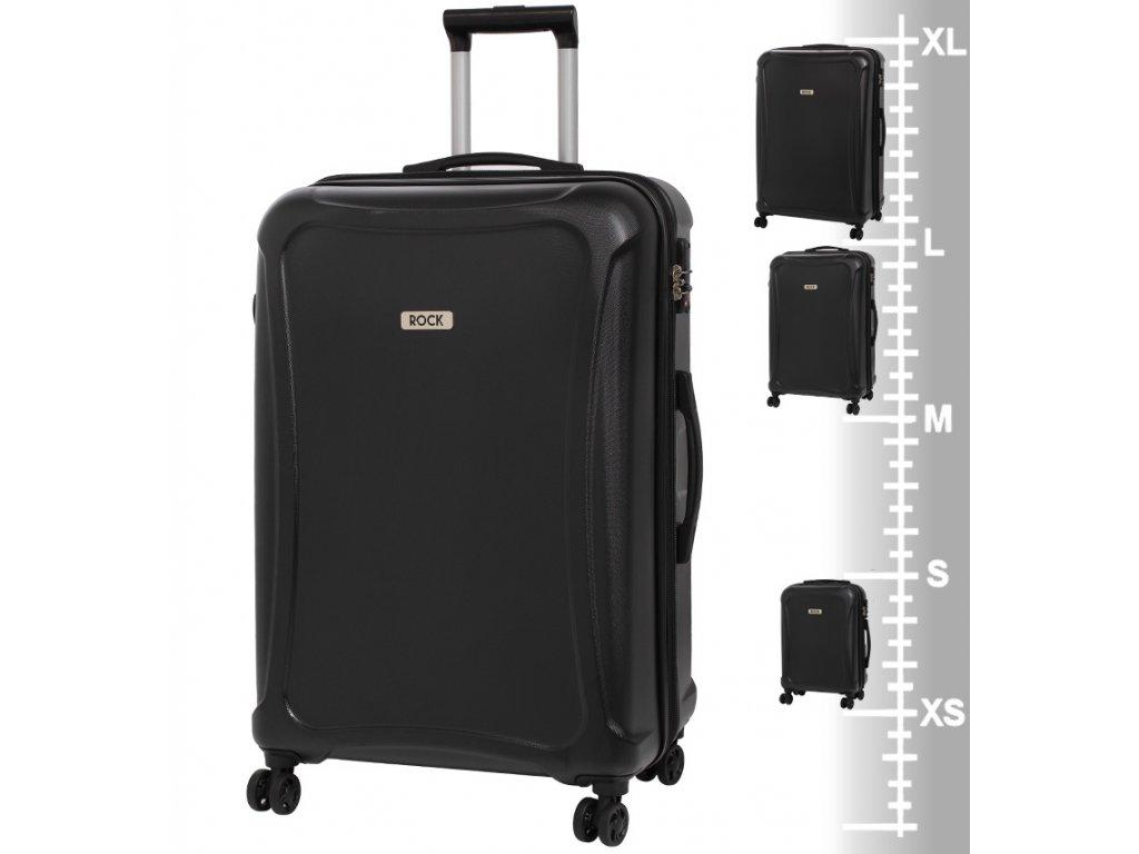 Velký cestovní kufr ROCK Tectonic L DUR černý