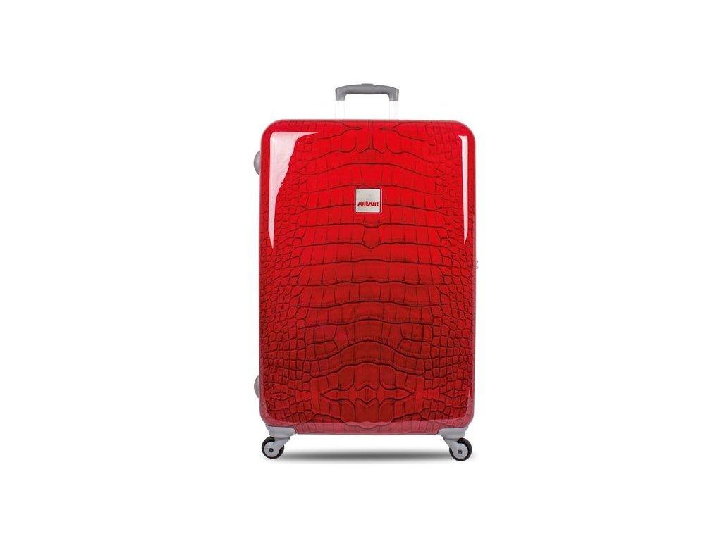 SuitSuit Cestovní kufr 70 - Red Crocodile