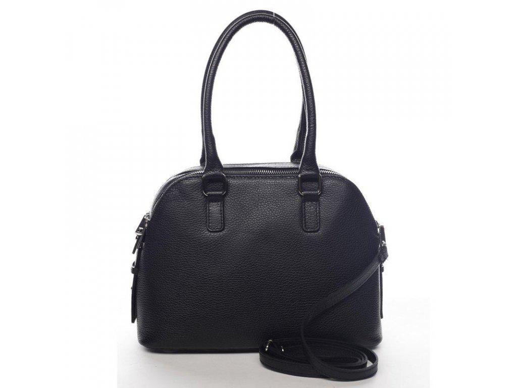 Kožená dámská kabelka černá