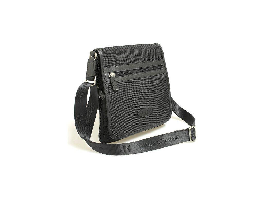 Pánská taška přes rameno Hexagona černá