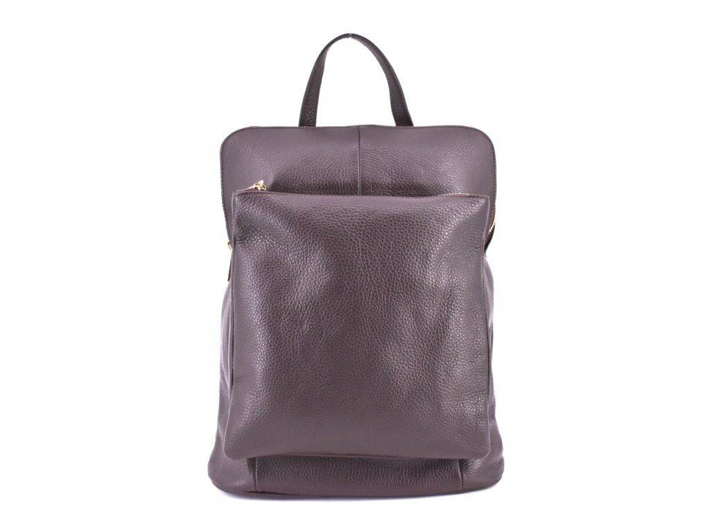 Kabelko batoh z pravé kůže hnědý