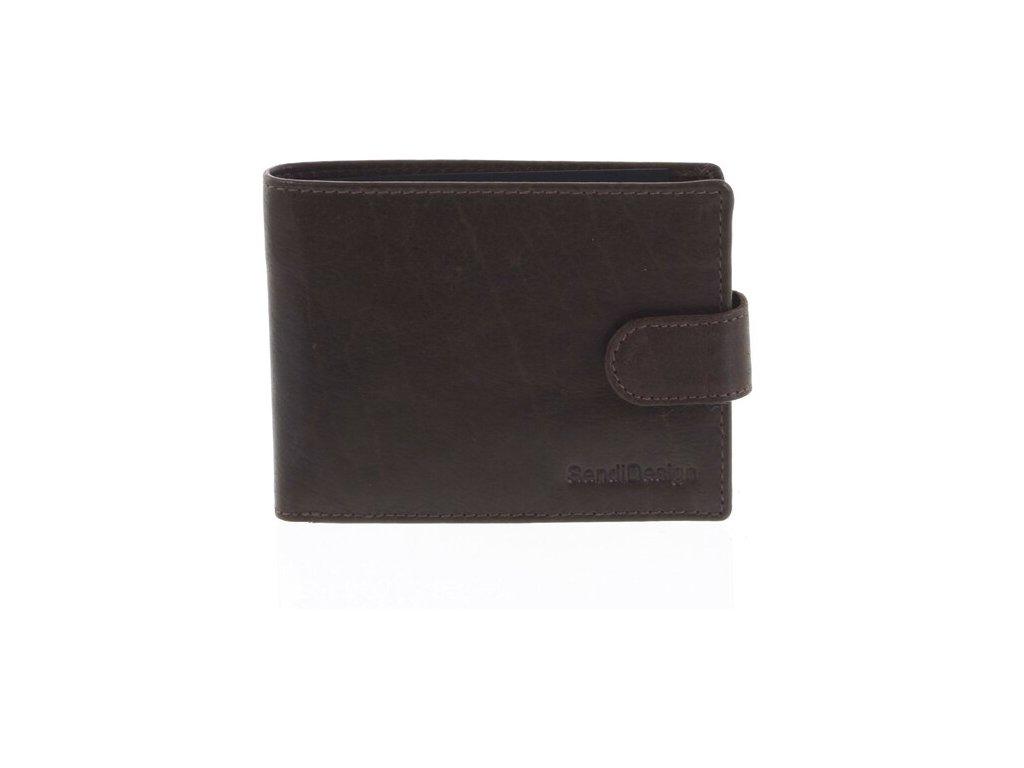 Sendi Design pánská kožená peněženka Brown