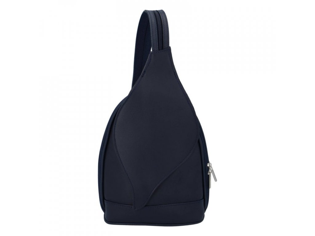 Dámský kožený batoh modrý