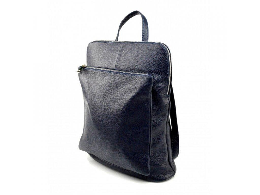 prakticka tmave modra kozena kabelka a batoh 2v1 aveline (1)