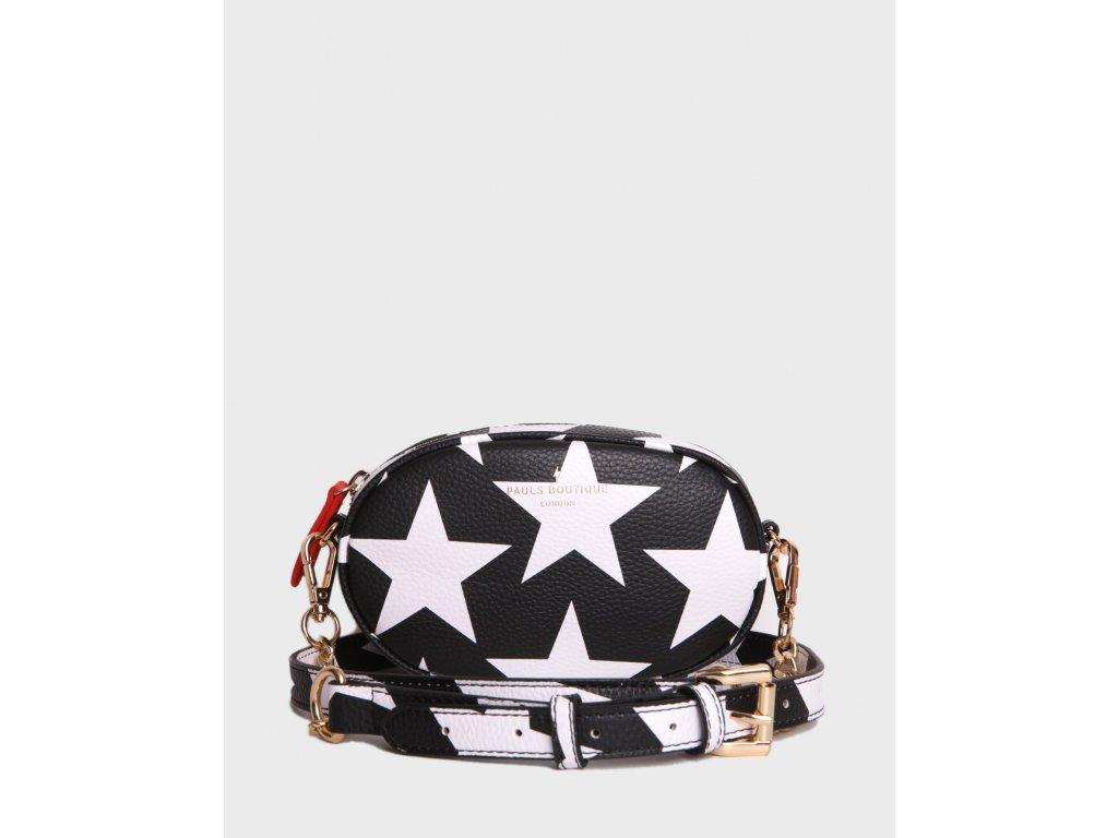 Pauls Boutique London kabelka ledvinka 2v1 černo bílá