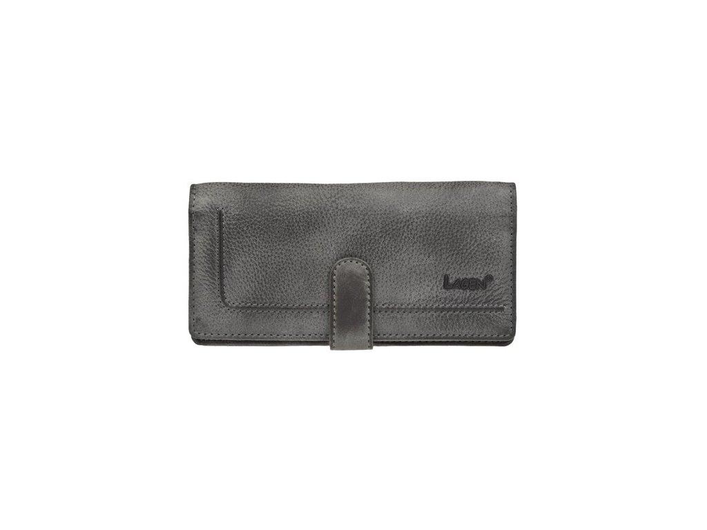 Lagen dámská kožená peněženka  - Šedá