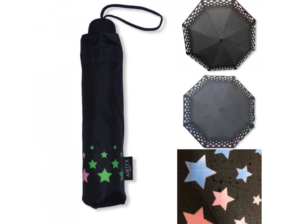 Airtex skládací kouzelný deštník Color Magic s měnícím efektem barev -hvězdičky