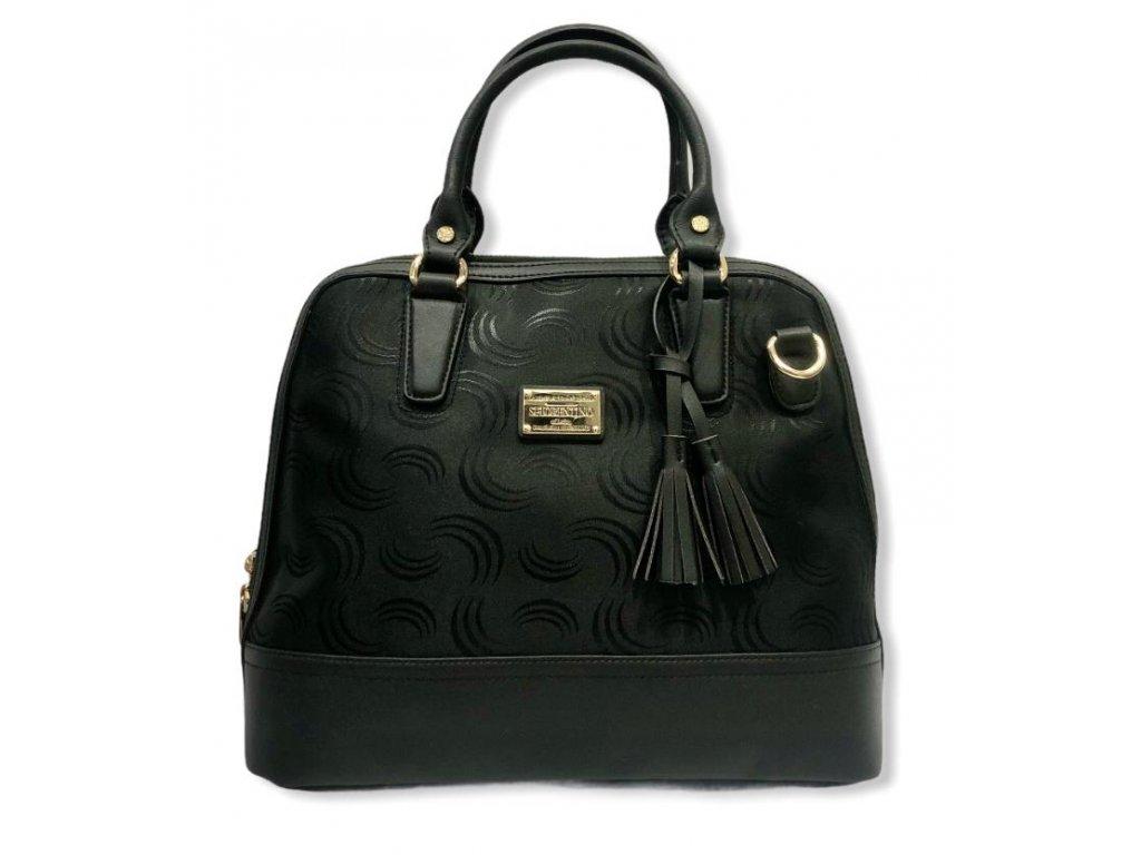 S.Fiorentino kabelka textilní černá