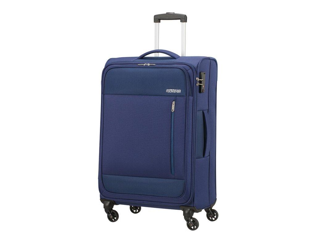 Střední kufr American Tourister HEAT WAVE  modrý