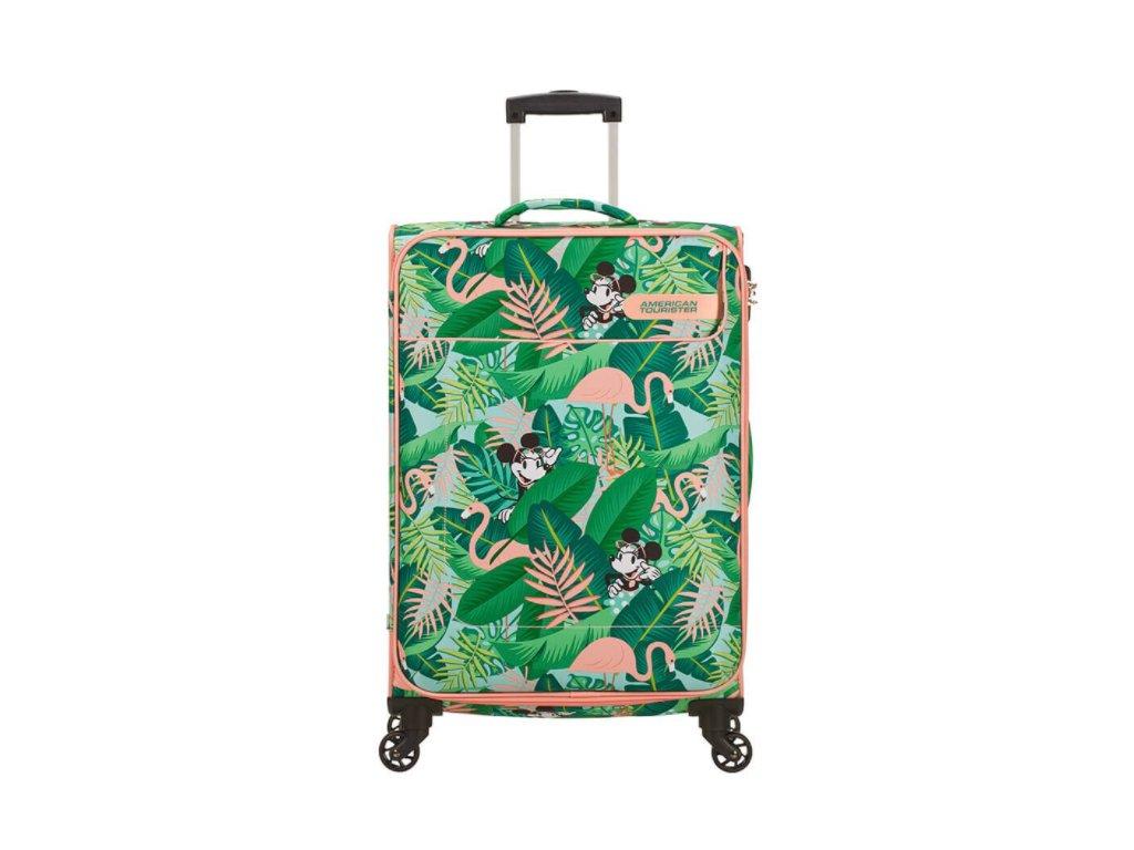 Látkový kufr American Tourister FUNSHINE DISNEY M - zelený