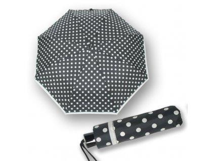 Doppler dámský skládací deštník Mini Fiber černobílý