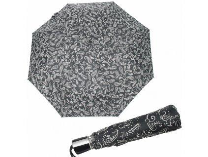 Doppler dámský skládací deštník Mini Fiber černo bílý