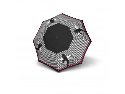 Doppler dámský holový vystřelovací deštník Fiber Flex AC Cozy Cat kočka