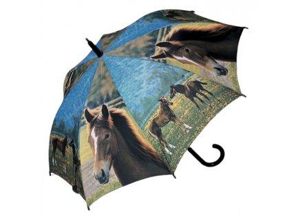 Doppler dětský holový vystřelovací deštník koně
