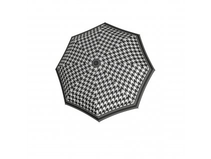 Doppler dámský holový vystřelovací deštník Fiber Flex AC Black & White pepito