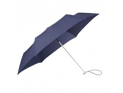 Samsonite skládací manuální deštník Alu Drop modrý
