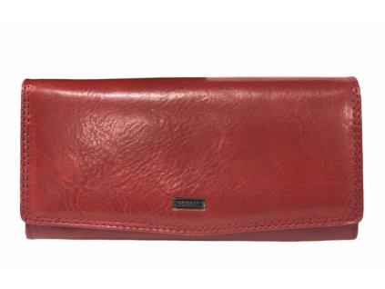 Peněženka dámská kožená COSSET červená