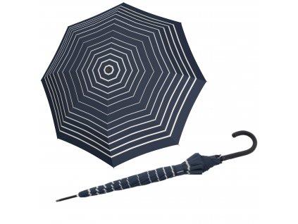 Doppler dámský holový vystřelovací deštník Fiber Flex Ac Timeless modrý