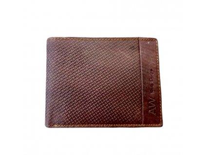 Pánská peněženka kožená AW hnědá
