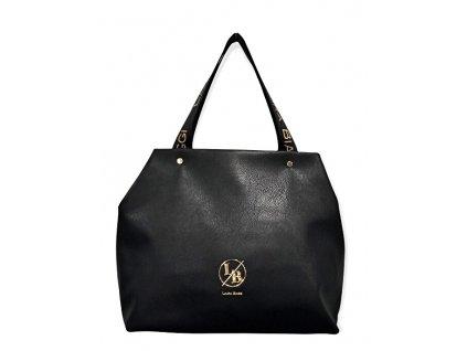 Laura Biaggi shopperka 2v1 černá