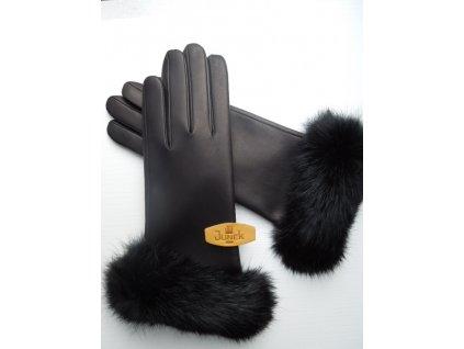 Dámské kožené rukavice - černé