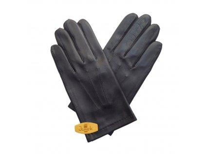Pánské kožené rukavice -černé