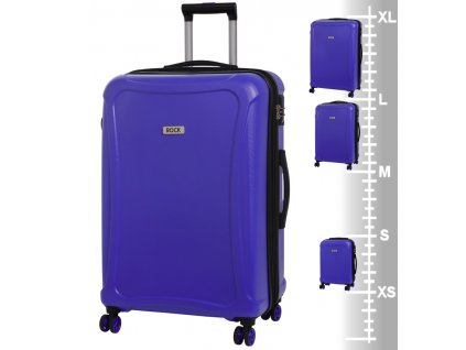Velký cestovní kufr ROCK Tectonic L DUR modrý