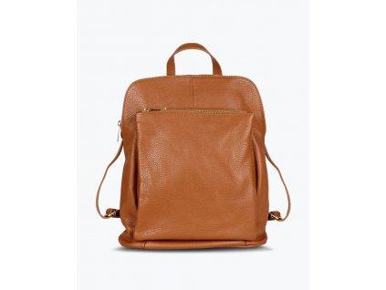 konakovy kozeny batoh se specialni kapsou