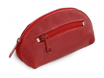 Arwel dvouzipová kožená klíčenka červená