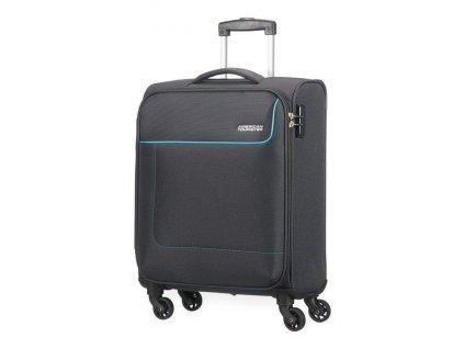 American Tourister cestovní kufr FUNSHINE SPINNER 55/20 SPARKLING šedý