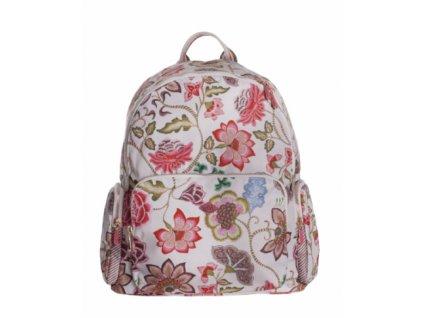 OILILY květovaný batoh Oatmeal béžová