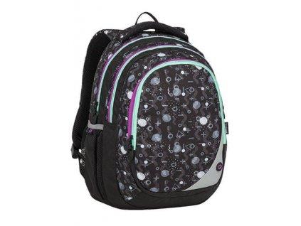 Bagmaster dívčí školní batoh -černo šedý