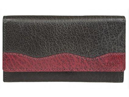 Lagen kožená peněženka černá/červená