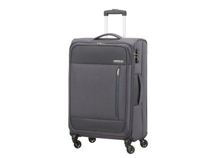 Střední kufr American Tourister HEAT WAVE  šedý