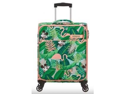 Látkový kufr American Tourister FUNSHINE DISNEY  S - zelený