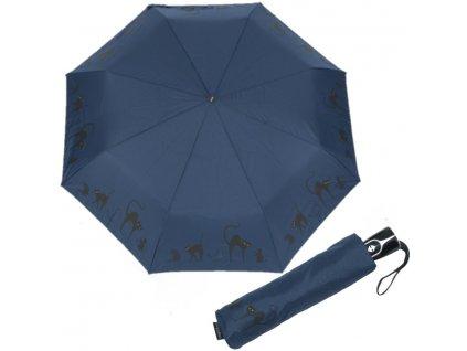 Doppler dámský plně automatický deštník Fiber Magic Cats Family