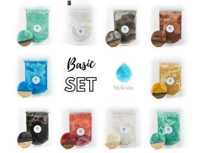 Set BASIC metalické pigmenty MyResin - 10 vzorkù po 5 g