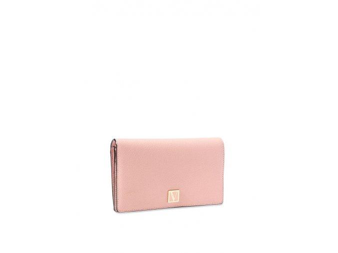 slim peňaženka victoria's secret v bledoružovej farbe